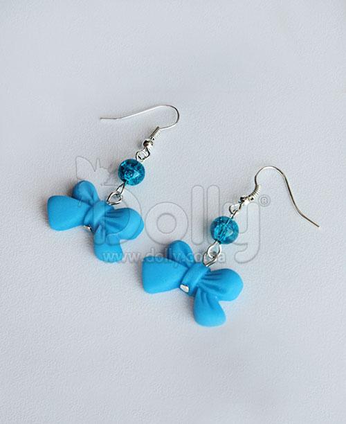 Серьги Анрио голубые