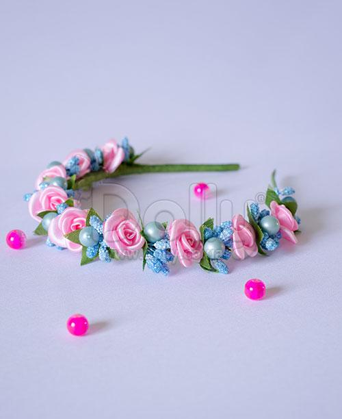 Обруч Ваниль розово-голубой