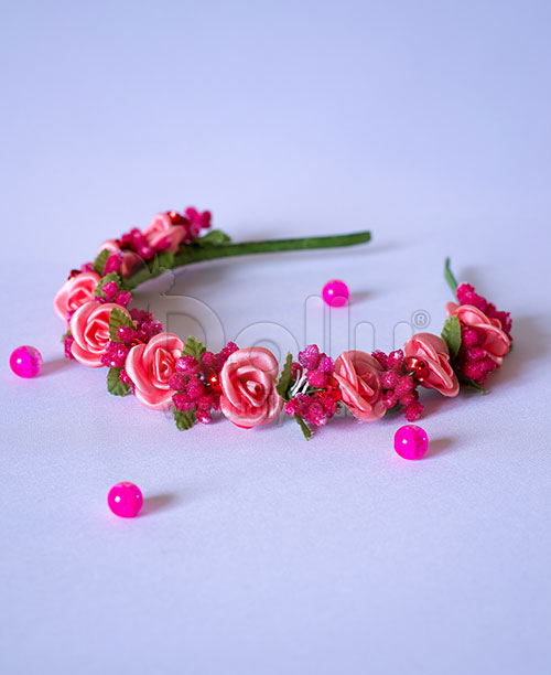 Обруч Герань розовый