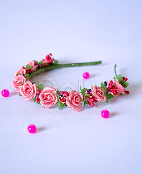 Обруч Лантана розовый