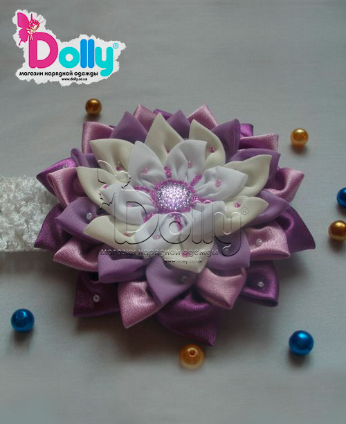 Повязка Фламинго фиолетовая