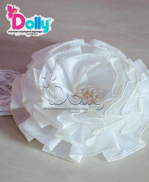 Повязка Изысканная роза белая