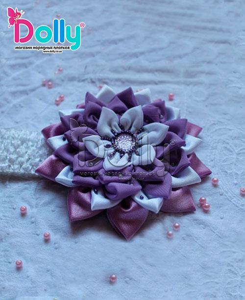 Повязка Райский цветок фиолетовая