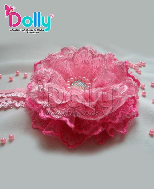 Повязка Инес розовая