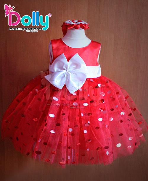 Платье Адэлина красное