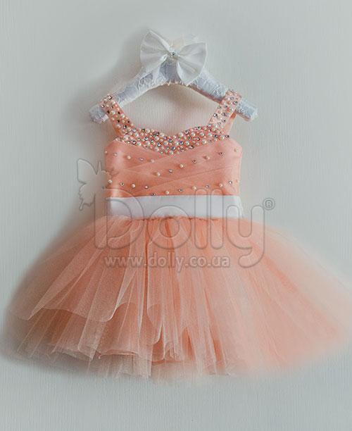 Платье Адель персиковое