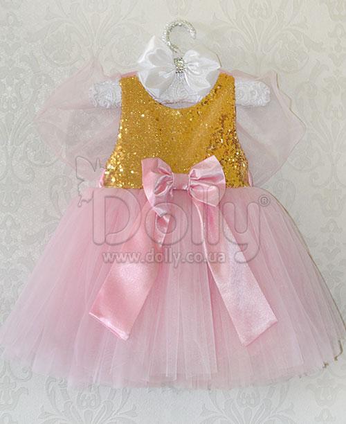 Платье Айриша розово-золотое
