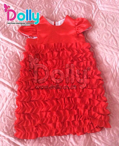 Платье Беверли красное