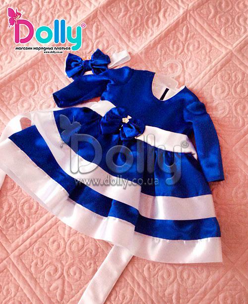 Платье Блоссом синее