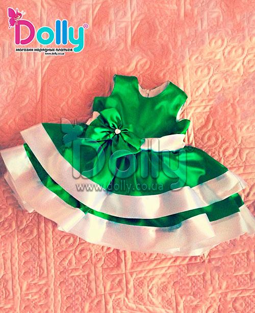 Платье Брилл зелёное