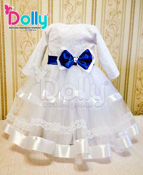Платье Бетси бело-синее