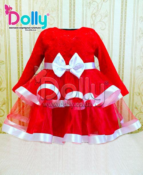 Платье Веста бело-красное