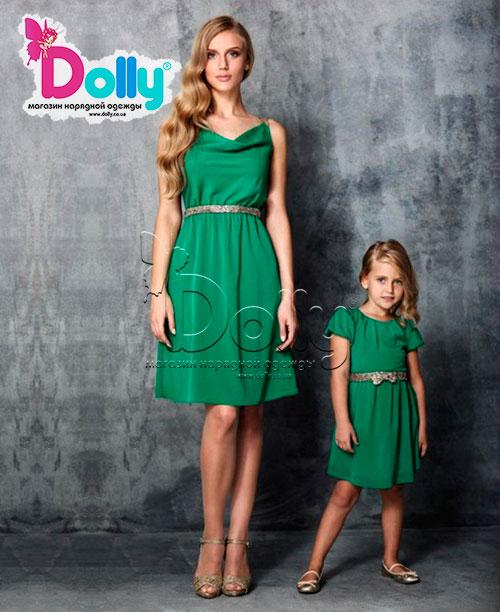 Платье Сирена зелёное