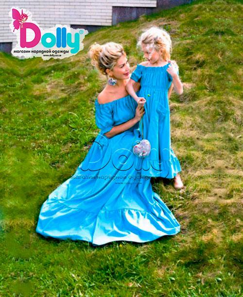 Платье Зеро голубое