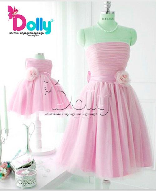 Платье Зефир розовое