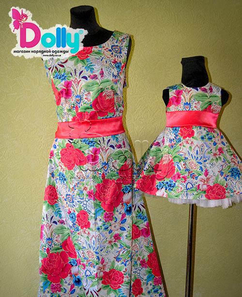 Платье Аленький цветочек разноцветное