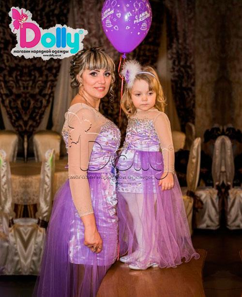 Платье Пава фиолетовое