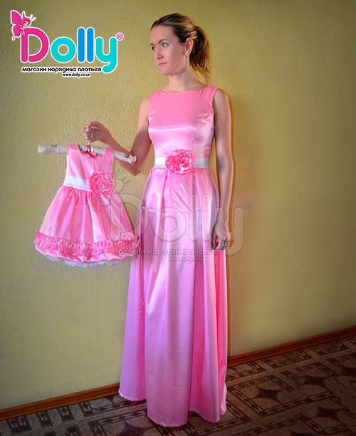 Платье Жозе розовое