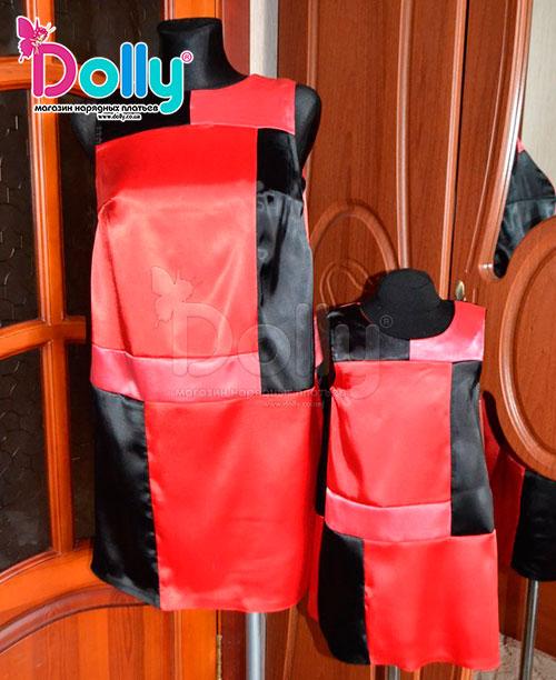 Платье Синди красно-чёрное