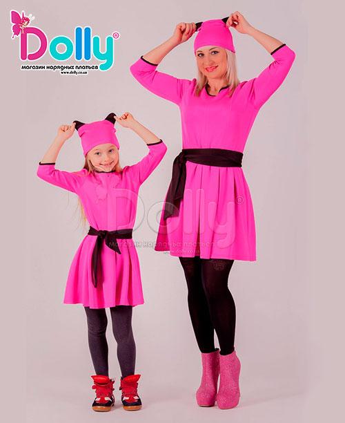Платье Пантера розовое