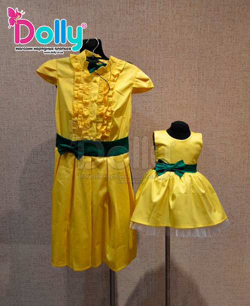 Платье Шато жёлтое