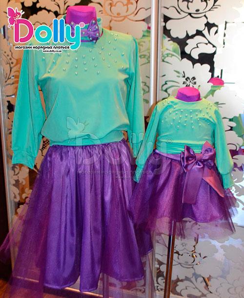 Платье Пеллегрино бирюзово-фиолетовое