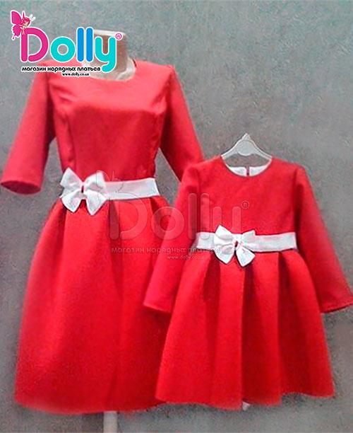 Платье Роде красное