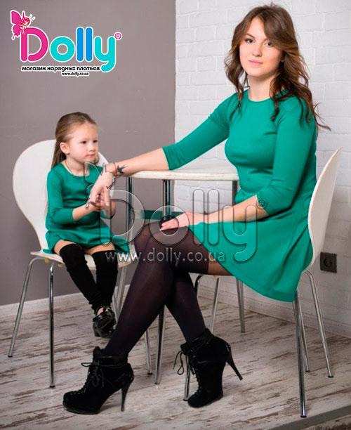 Платье Паркер зелёное