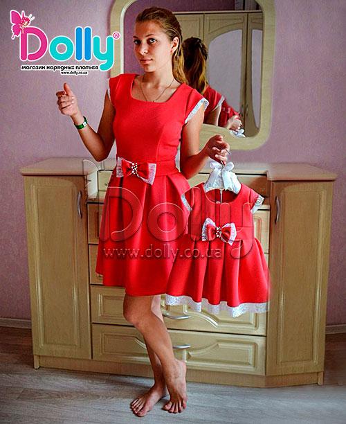 Платье Милли красное