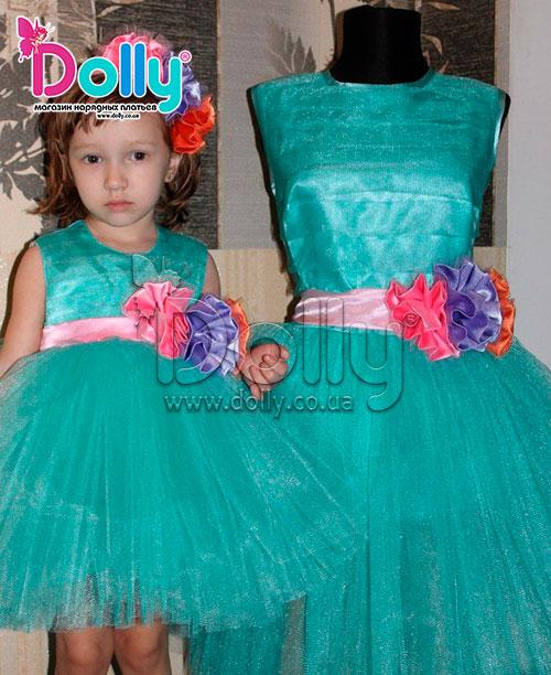 Платье Эйвери бирюзовое