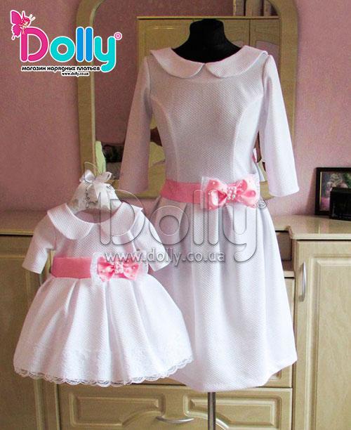 Платье Лолита бело-розовое