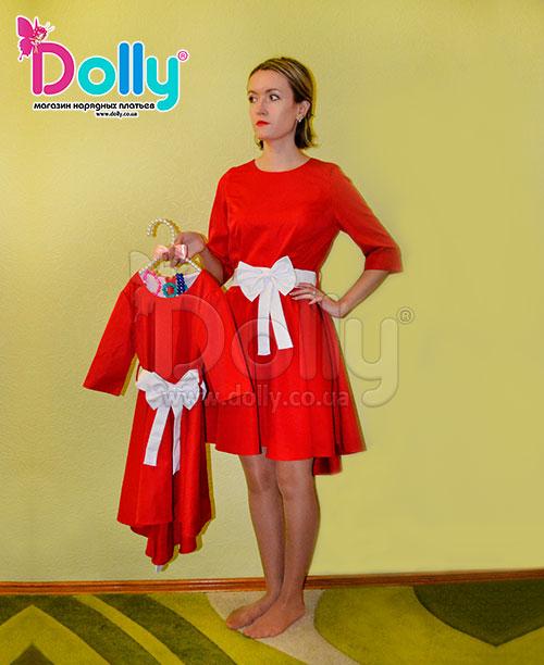 Платье Лунет красное
