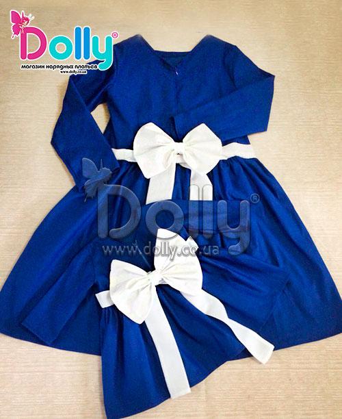 Платье Ирис синее