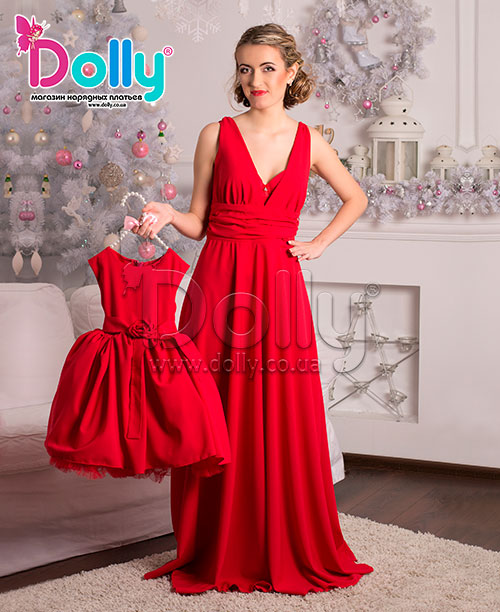 Платье Шерон красное