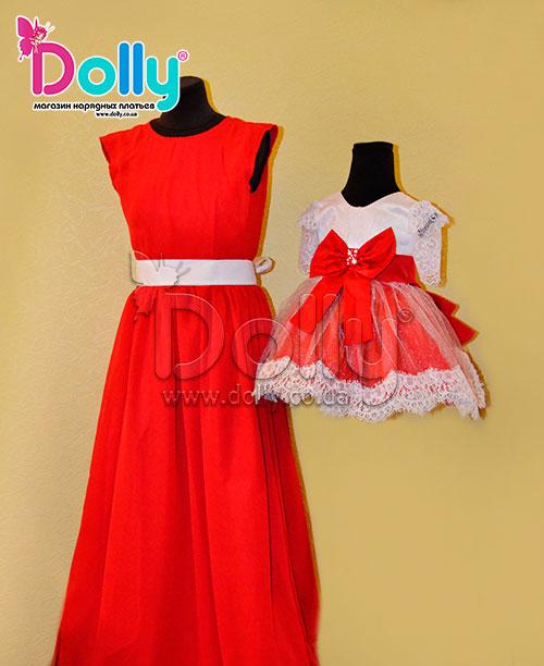 Платье Меган красное