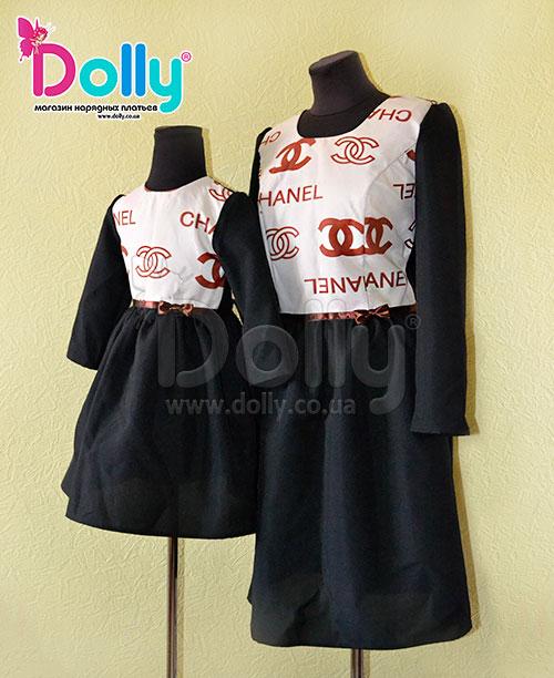 Платье Шайн чёрное