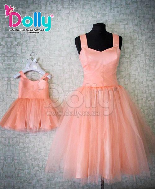 Платье Иви персиковое