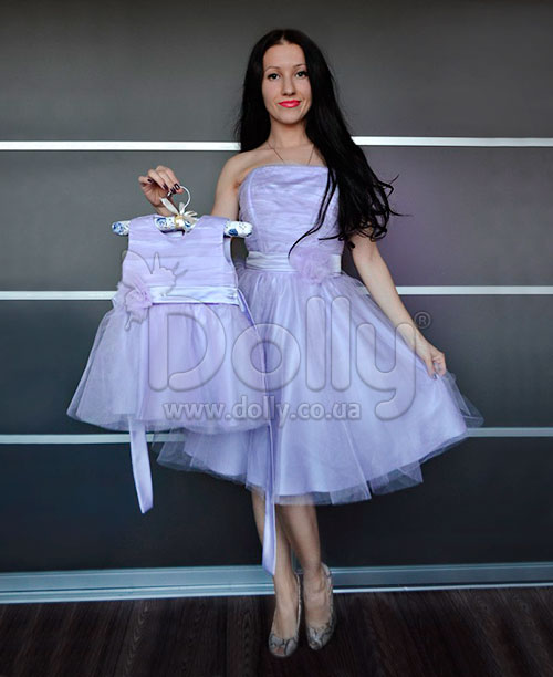Платье Лаванда фиолетовое