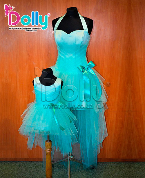 Платье Лесли голубое
