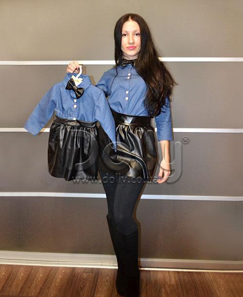 Платье Жильберт сине-чёрное