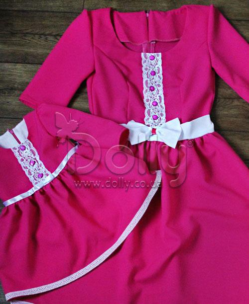 Платье Лилиан малиновое
