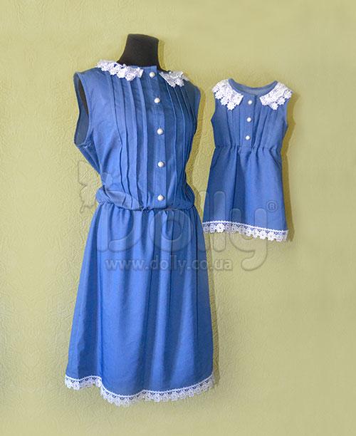 Платье Линсей синее