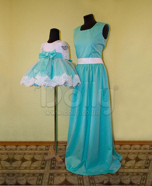 Платье Меган бирюзовое