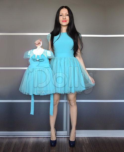 Платье Кристина голубое