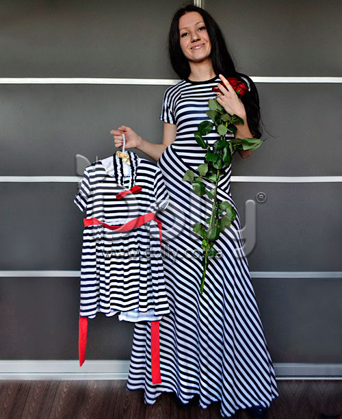 Платье Корри разноцветное
