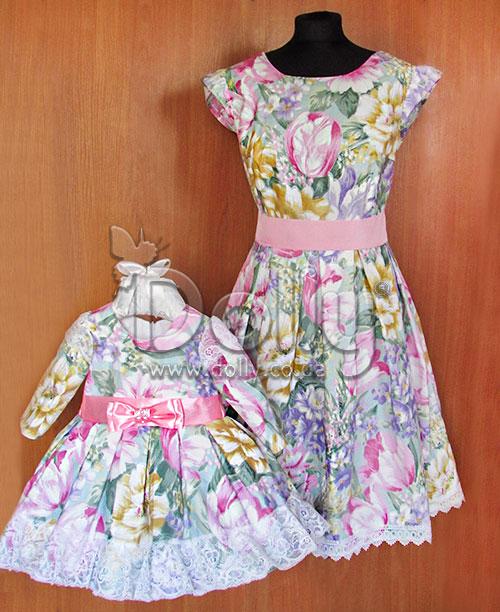 Платье Райли разноцветное