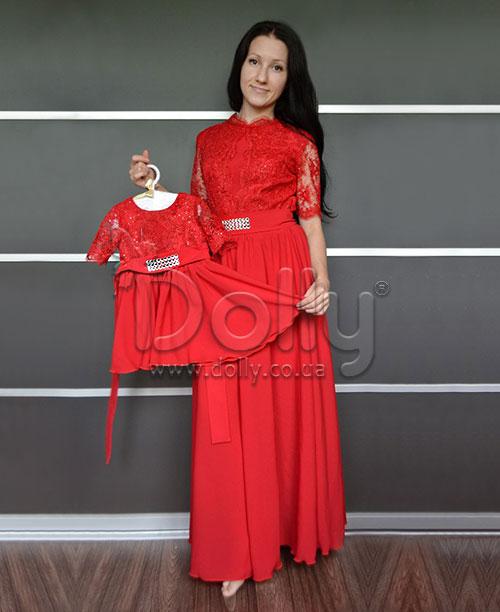 Платье Дорис красное