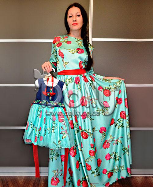 Платье Нели разноцветное