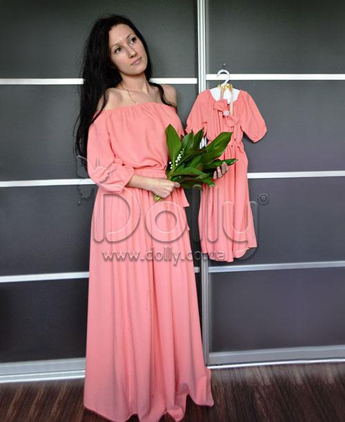 Платье Пегги персиковое
