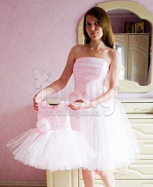 Платье Аврил розовое
